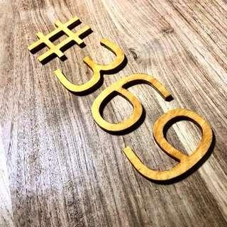 "4"" Plywood letterings"