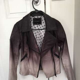 Ombré Dannii Minogue Pleather Jacket