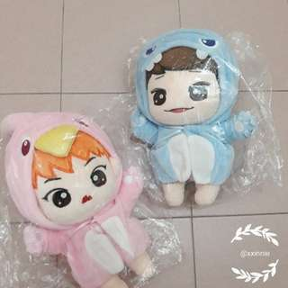 [READYSTOCK] Exo Chen & Xiumin Doll *no second payment needed*