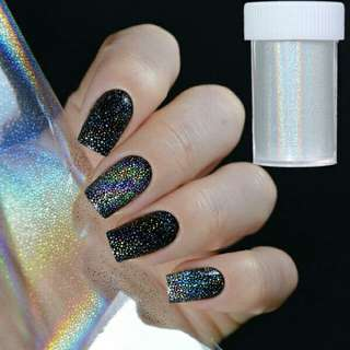 Holographic starry nail foil
