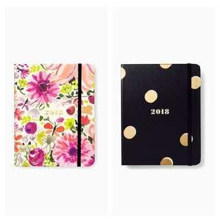 SALE Kate Spade 17 Month 2018 Medium Agenda Planner Dahlia/Gold Dots