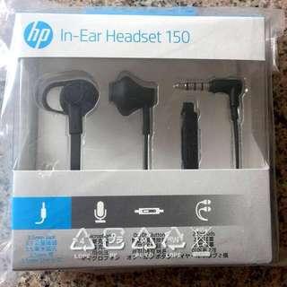 BNIB HP In-Ear Headset 150