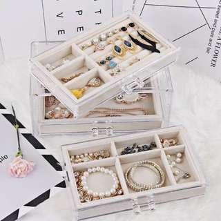 質感好物 | #米白透明壓克力首飾收納盒、珠寶抽屜收納盒(3層抽屜)