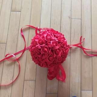 婚後物資 攔門花球