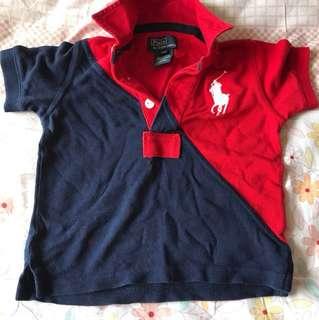 Euc authentic polo Ralph Lauren boy polo tshirt 1Y
