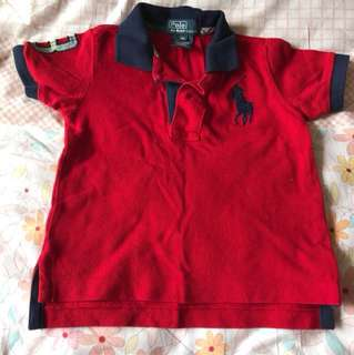 Euc authentic polo Ralph Lauren boy polo tshirt 9M