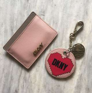 DKNY card holder and keychain bundle