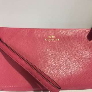 100% Real Coach pink wallet