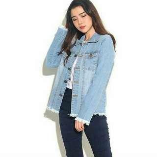 Jaket Jeans Fringe