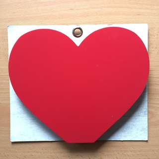 Typo Wooden Block - Heart shape