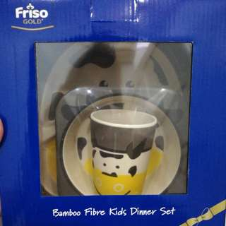 Bamboo fibre kids dinner set
