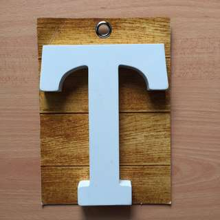 TYPO Wooden Block - Letter T