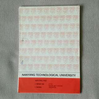 NTU Old Antique Foolscap Paper