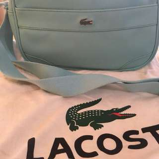 Lacoste sling bag ori good condition