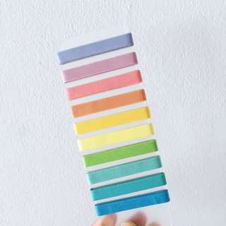 Colourful washi tape on clear card