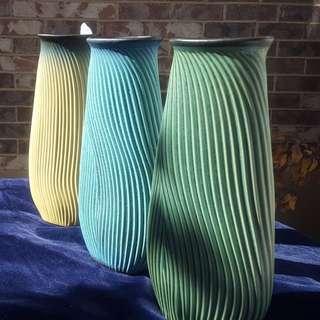 Studio Pottery Signed LG Vase