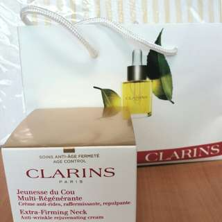Clarins Extra-Firming neck cream value deal!
