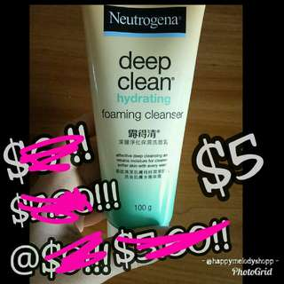 Clearance sale @ $5 mailed  !!! Neutrogena deep clean hydrating foaming cleanser
