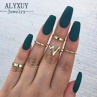 Trendy jewellery ring (7) Gold and silver