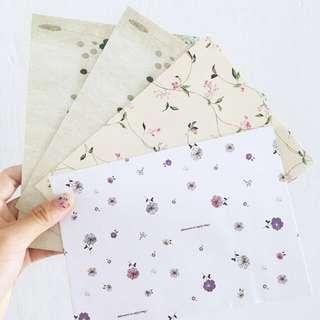 tumblr flowery envelops (4 pieces)