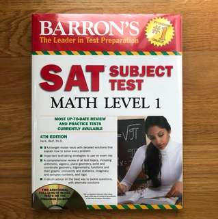 Barron's SAT Subject Test Math Level 1 Exam Prep Book (4th Edition with CD-ROM)