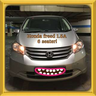 HONDA FREED 1.5G A! Promo Now! Only $60! Petrol Saver Proven! 18% off petrol Card! Lowest Price! Can Drive For Uber/Grab/Sixtnc! Flexible Rental Scheme! Personal User! Call Now!