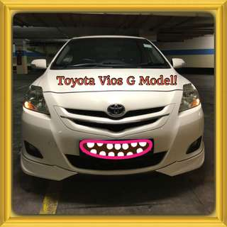 TOYOTA VIOS G AUTO! Promo Now! Only $57! Petrol Saver Proven! 18% off petrol Card! Lowest Price! Can Drive For Uber/Grab/Sixtnc! Flexible Rental Scheme! Personal User! Call Now!