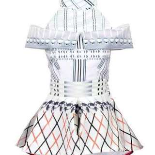 Mary Katrantzou White Peplum Top