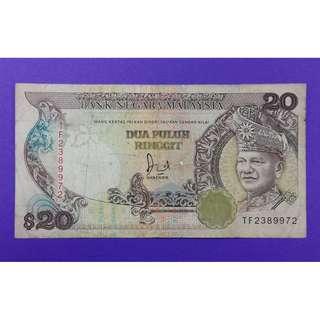 JanJun $20 6th 1st Prefix Siri 6 Jaffar 1982 RM20 Duit Lama