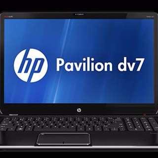 "HP Pavillion DV7-7001 - i7-3610QM - 2.3 GHz to 3.3GHz;  17"" full HD Laptop"