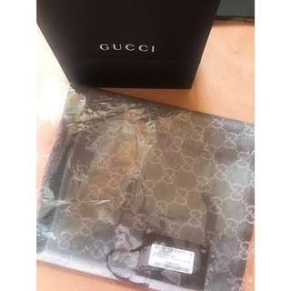 100%new & real Gucci silver grey scarf 名牌銀灰色頸巾 披肩 圍巾 lane crawford joyce tomford