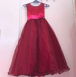 Maroon formal gown
