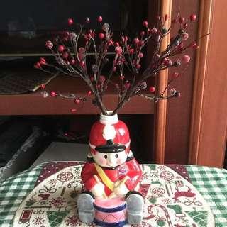 歡樂聖誕飾品系列~紅色小果實樹枝 樹插 聖誕飾品 居家節慶擺飾 聖誕樹裝飾(2隻一組)