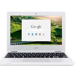 New Acer Chromebook CB3-131-C3SZ 11.6-Inch Laptop (Intel Celeron N2840 Dual-Core Processor,2 GB RAM,16 GB Solid State Drive,Chrome), White