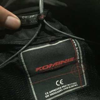 Komine titanium safety padded leather jacket