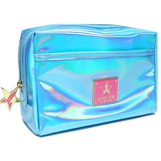 JEFFREE STAR HOLOGRAPHIC BLUE MAKEUP BAG BRAND NEW & AUTHENTIC (NO OFFERS)