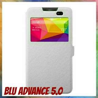 Blu Advance 5.0 White Flip Case