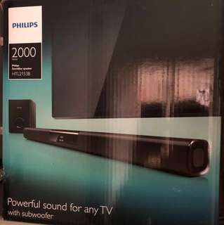 Philips Soundbar speaker with sub woofer
