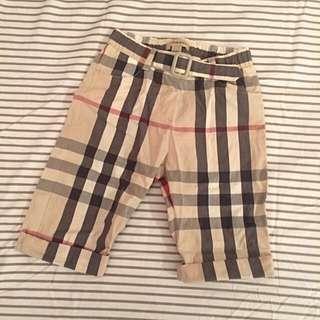 🚚 Burberry經典格紋反折7分褲