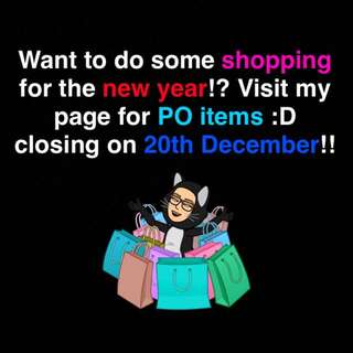 Visit us quick!! PO Closing Soon!