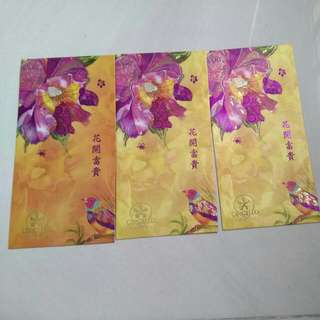 Orchid country club red packet 3 pieces for $1