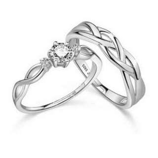 Couple Rings Jewellry 925 Silver Adjustable Lovers Ring Jewellery