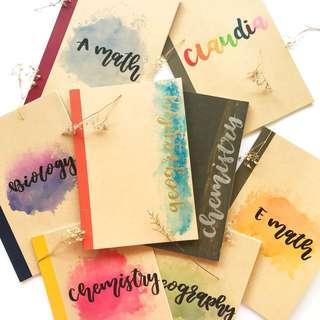 Customisable B5 Muji notebooks