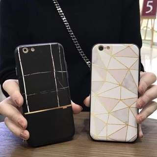 🚚 黑/白大理石紋手機殼 *軟殼 *預購 *iphone 6/ iphone 7/ iphone 8 plus