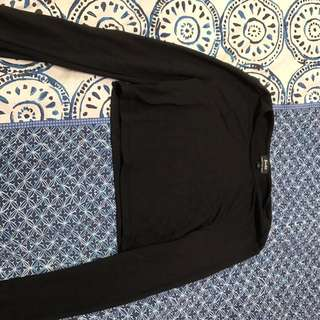 Size 10 Black Crop Top