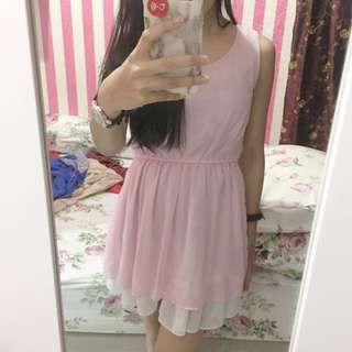 Dress pink local brand size S