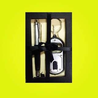 GIVEAWAY IDEA PEN & FLASHLIGHT (bottle opener) IN A GIFTBOX