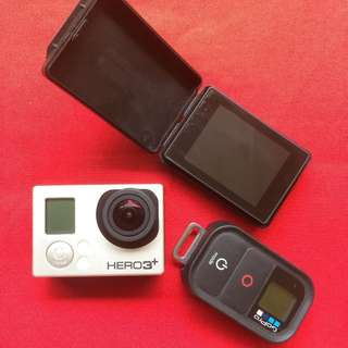 Go Pro Hero 3+ Black Edition with LCD Screen, Remote & Accessories