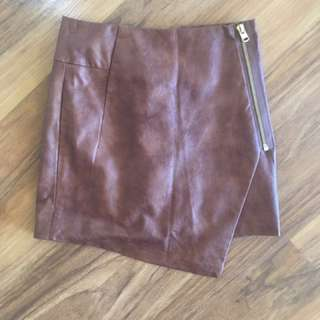 Brown Leather H&M Skirt