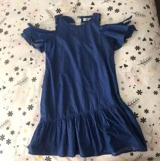 Zara girl denim dress BNWT